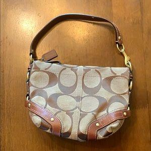 Coach big c pattern handbag